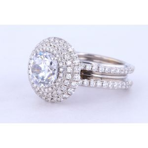 Danhov Halo Diamond Engagement Ring  CE162