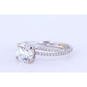Danhov Pave Diamond Engagement Ring  ZE101