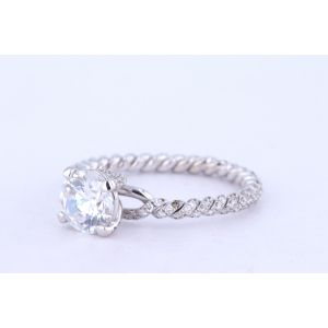 Danhov Pave Diamond Engagement Ring  ZE105