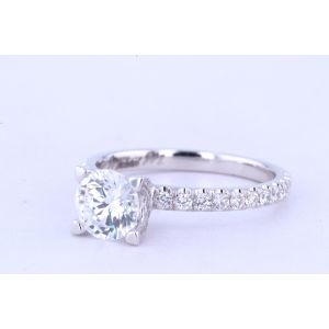 Michael M Pave Engagement Ring  40-R371-1