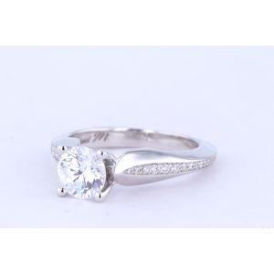 Michael M Pave Engagement Ring  40-R651-1