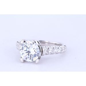 Michael M Pave Engagement Ring  40-R655-2