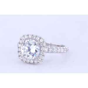 Michael M Halo Engagement Ring  40-R660-1.5