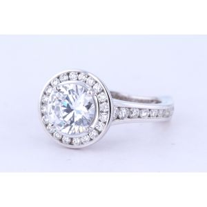 Michael M Halo Engagement Ring  40-R666-2