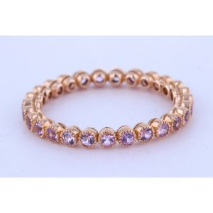 Eternity Pink Sapphire Wedding Ring  505-1274