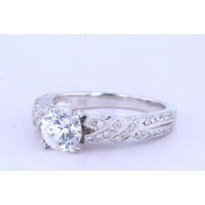 Kirk Kara Pave Engagement Ring  63-K133R