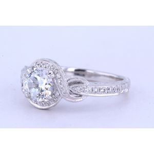 Kirk Kara Halo Engagement Ring  63-K150R65R