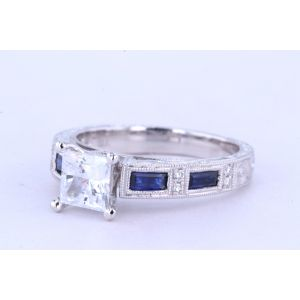 Kirk Kara Vintage Engagement Ring with Sapphire  63-SS6685-R