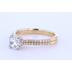 Double Row Diamond Setting