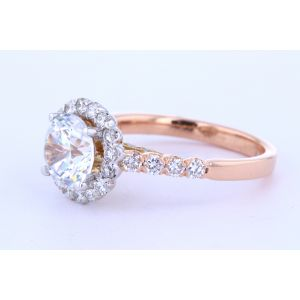 Tri-colored Engagement Ring Setting