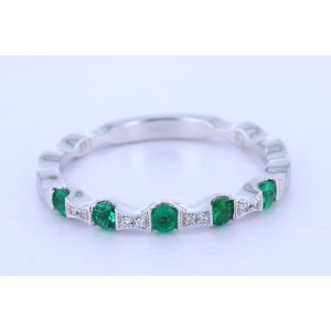 Stackable Emerald Wedding Ring  NR988-4