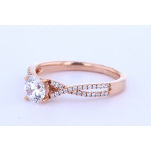 Rose Gold Twisted Band Engagement Ring