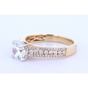 Three Row Diamond Shank Engagement Setting