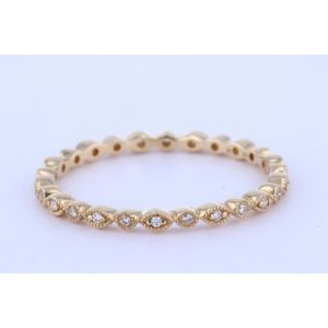 White Gold Marquise & Dot Eternity Band
