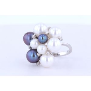Pearl and Diamond  Ring  BSUGF008501D