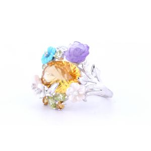 Assorted Gemstone Ring  RRF010700954