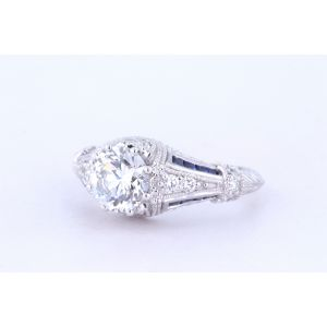 Miro Vintage Engagement Ring with Sapphire  299-R761/2