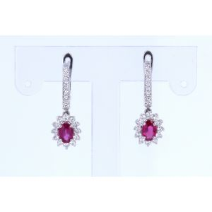Miro Ruby and Diamond Earrings  192-R201136