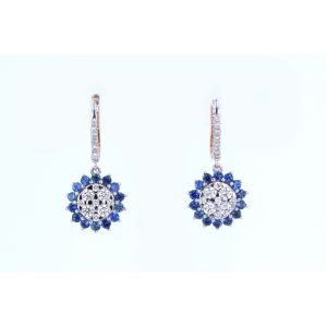 Miro Sapphire and Diamond Earrings  ER1602