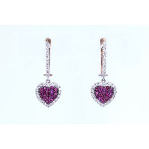 Miro Ruby and Diamond Earrings  ER1559