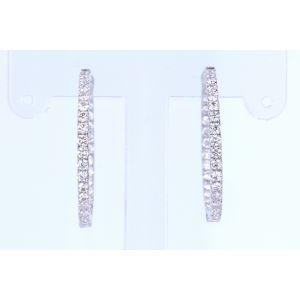 Diamond Hoop Earrings ME768-6