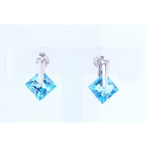 Miro Blue Topaz Earrings  250-2450