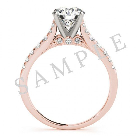 Pave Engagement Ring-Rose Gold