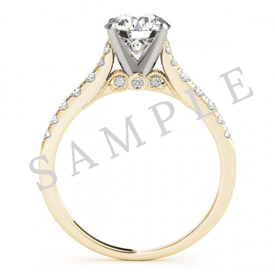 Pave Engagement Ring-14k Yellow Gold